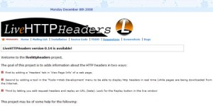 Livehttp Headers